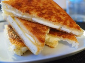 Toast med halloumi